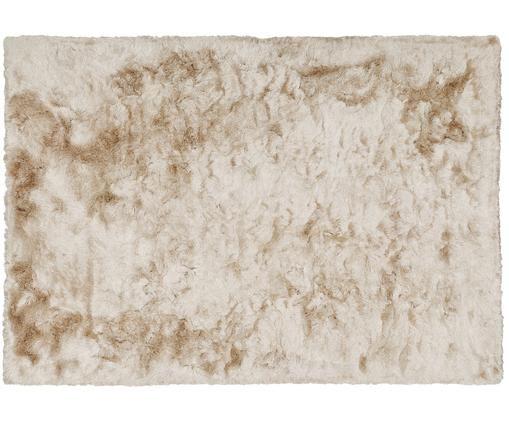 Glänzender Hochflor-Teppich Jimmy in Elfenbein, Flor: 100% Polyester, Elfenbeinfarben, B 160 x L 230 cm (Größe M)