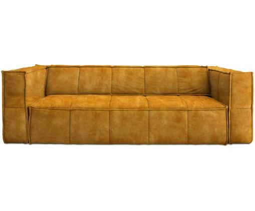 Samt-Sofa Cube (4-Sitzer), Senfgelb