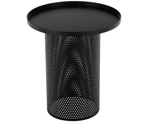 Stolik pomocniczy z metalu Victor, Czarny, Ø 42 x W 47 cm