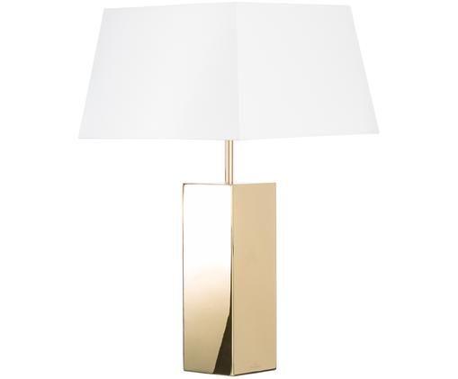 Tafellamp Prag, Goudkleurig, beige