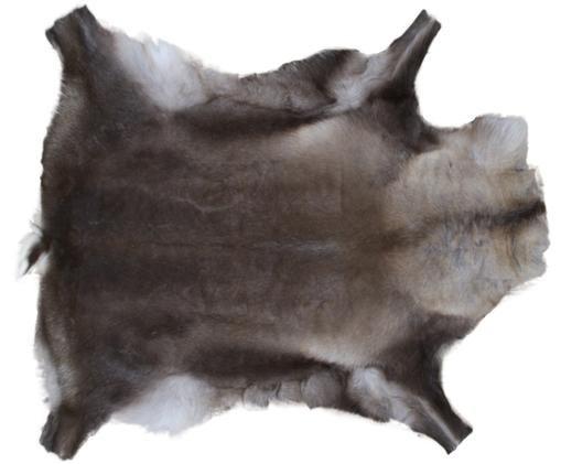 Tappeto in pelle di renna Berndo, Marrone scuro