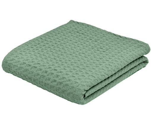 Copriletto Panal, Cotone, Verde, Larg. 180 x Lung. 260 cm