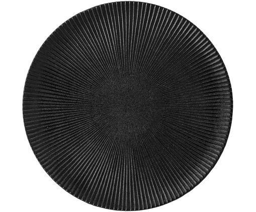 Talerz duży Neri, Kamionka, Czarny, Ø 29 cm