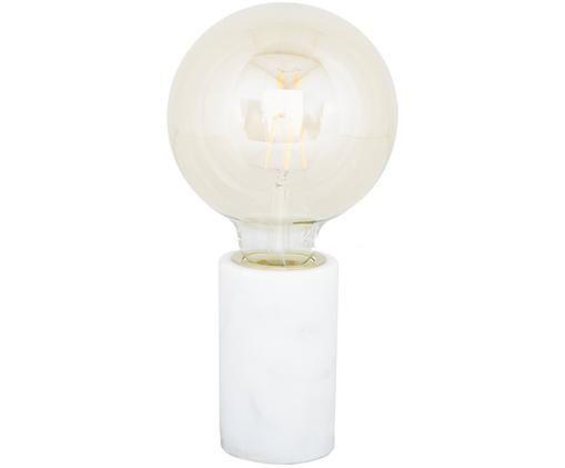 Marmor-Tischleuchte Siv, Marmor, Weiß, Ø 6 x H 10 cm