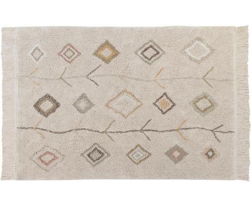 Tappeto lavabile fatto a mano Kaarol, 97% cotone riciclato, 3% altre fibre Oeko-Tex Standard 100, Grigio pietra, Larg. 140 x Lung. 200 cm (taglia S)