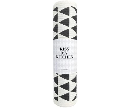 Carta assorbente di spugna compostabile  Dreieck, 70% cellulosa, 30% cotone, Bianco, nero, Larg. 24 x Lung. 25 cm