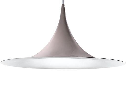 Pendelleuchte Chioto, Weiß, Grau, Ø 48 x H 25 cm
