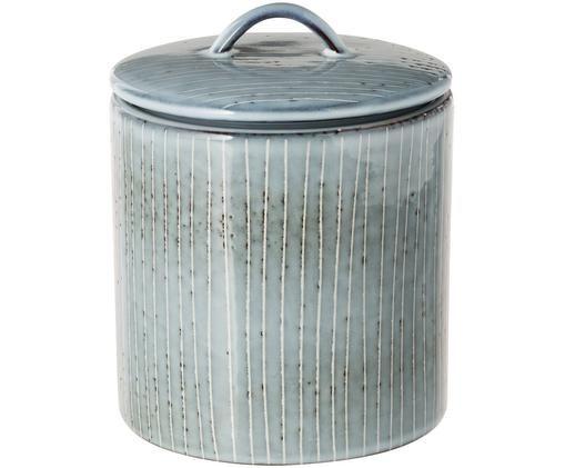 Boîte de rangement faite à la main Nordic Sea, Tons gris et bleus