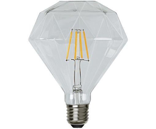 LED-Leuchtmittel Diamond (E27 / 3Watt), Leuchtmittelschirm: Glas, Leuchtmittelfassung: Nickel, Transparent, Ø 12 x H 13 cm
