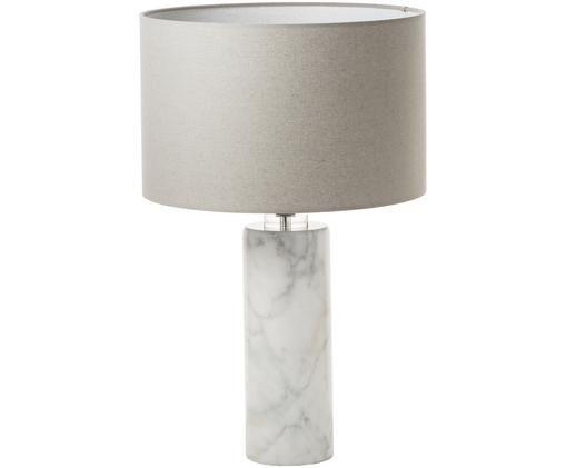 Marmor-Tischleuchte Dijon, Weiß