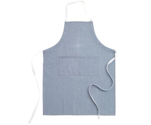 Fartuch Grant, Jeansowy niebieski, biały