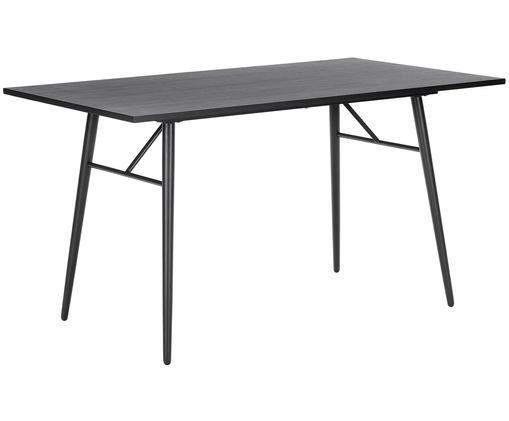 Table en métal et bois Jette, Noir