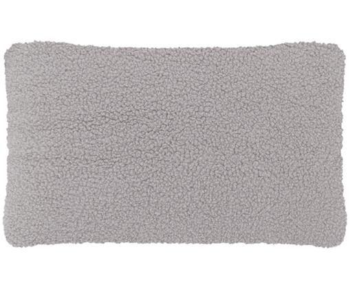 Flauschige Teddy-Kissenhülle Mille, Vorderseite: 100% Polyester (Teddyfell, Rückseite: 100% Polyester (Teddyfell, Hellgrau, 30 x 50 cm