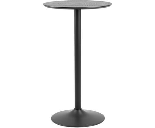 Tavolo rotondo Ibiza, Piano d'appoggio: impiallacciatura di frass, Nero, Ø 60 x Alt. 105 cm