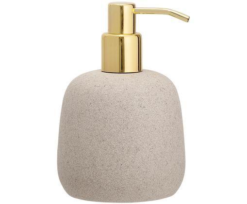 Dosificador de jabón Luis, Beige, dorado
