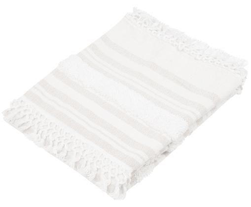Pled z bawełny Nara, 100% bawełna, Kremowy, beżowy, S 130 x D 170 cm
