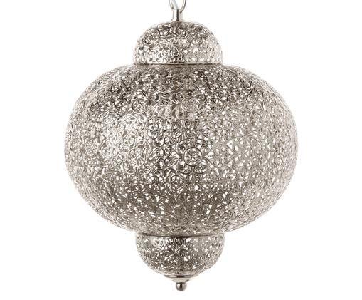 Hanglamp Marocco, nikkelkleurig, Vernikkeld metaal, Zilverkleurig, Ø 29 x H 37 cm