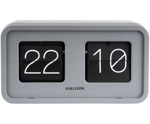 Orologio numerico Bold, Materiale sintetico, Grigio, nero, bianco, Larg. 27 x Alt. 15 cm