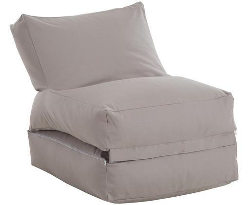 Garten-Loungesessel Sitzsack Twist mit Liegefunktion, Bezug: Polyacryl Dralon (garngef, Grau, B 70 x T 80 cm