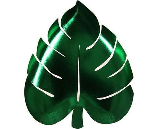 Papieren borden Palm Leaf, 8 stuks