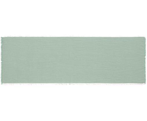 Runner da tavolo Layer, Cotone, Verde, Larg. 50 x Lung. 150 cm