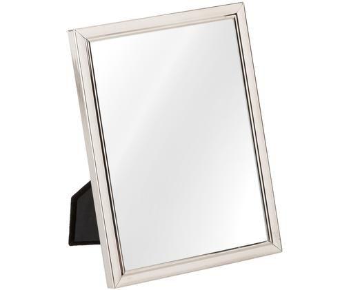 Bilderrahmen Emma, Metall, versilbert, Rahmen: Silber<br>Front: Transparent, 15 x 20 cm