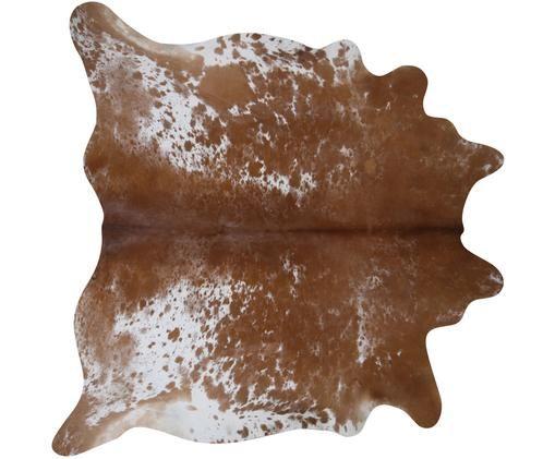 Tappeto in pelle di mucca Jura, Pelle bovina, Marrone, beige, Pelle di mucca unica 1137