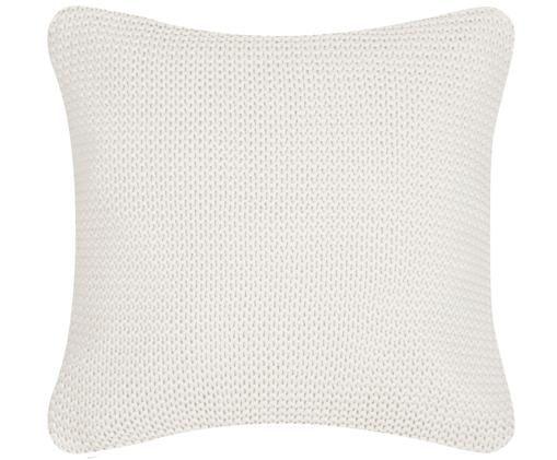 Federa arredo in cucitura a maglia Adalyn, Cotone, Bianco naturale, Larg. 40 x Lung. 40 cm