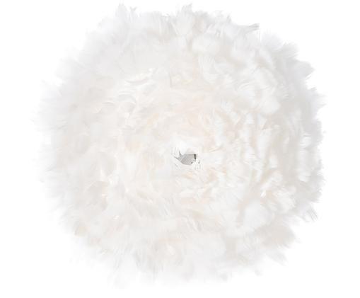 Applique in piume Eos Up, Paralume: piuma d'oca, Bianco, Ø 40 x Prof. 15 cm