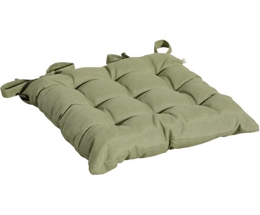 Cuscino sedia in tinta unita Panama, 50% cotone, 45% poliestere, 5% altre fibre, Verde salvia, Larg. 45 x Lung. 45 cm