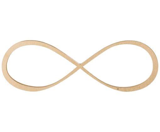 Wandobject Infinity van gelakt hout