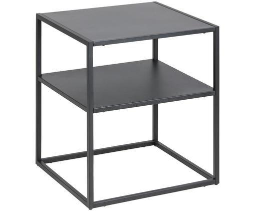 Tavolino in metallo Newton in nero, Nero