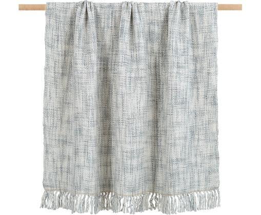 Tkany pled Tammy, 100% modakryl, Jasny szary, kremowy, S 130 x D 170 cm