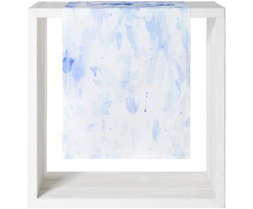 Bieżnik Aquarella, Bawełna, Biały, odcienie niebieskiego, S 50 x D 150 cm