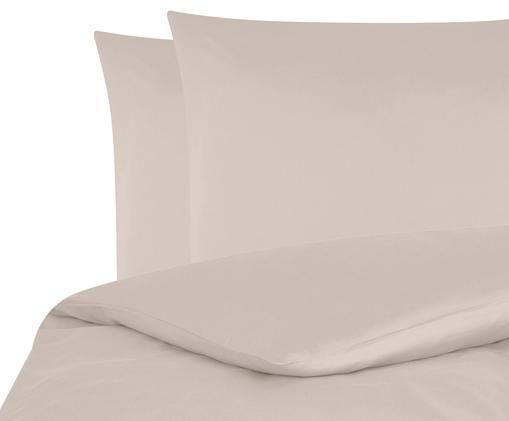 Pościel z satyny bawełnianej Comfort, Taupe, 240 x 220 cm