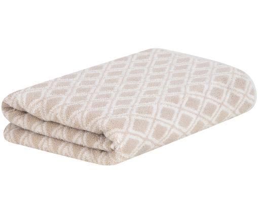 Asciugamano reversibile Ava, 100% cotone, qualità media 550g/m², Sabbia, bianco crema, Telo bagno