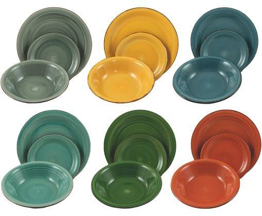 Set di piatti Baita, 18 pz., Multicolore