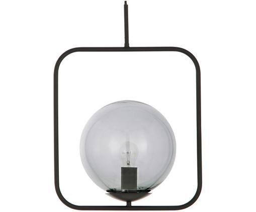 Lampada a sospensione Daphne, Paralume: vetro, Grigio, nero, Larg. 38 x Alt. 52 cm