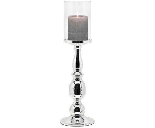 Lampion Irina, Transparentny, srebrny, W 45 x Ø 13 cm