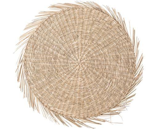 Tovaglietta americana rotonda in alghe Whirl, Alghe, Beige, Ø 38 cm