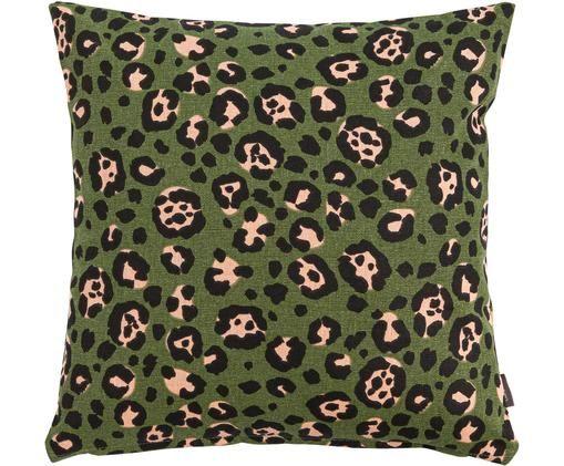 Poduszka z wypełnieniem Panther, Bawełna, Khaki, beżowy, czarny, S 45 x D 45 cm