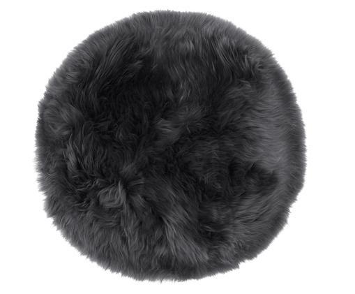 Cojín de asiento de oveja Oslo, Gris oscuro