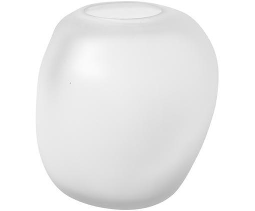 Vaso in vetro soffiato Amund, Vetro, Bianco, Ø 15 x A 15 cm