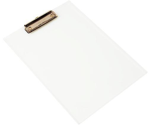 Podkładka z klipsem Alea, Transparentny, różowe złoto, S 23 x W 31 cm