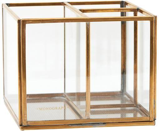 Organizer Sorted, Rahmen: Metall, vermessingt, Transparent, Messing, 13 x 10 cm