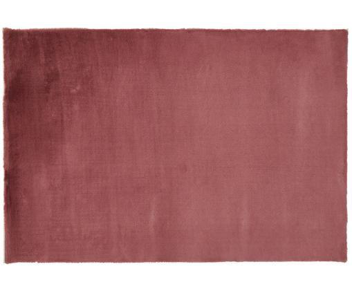 Sehr flauschiger Kunstfell-Teppich Rabea, Flor: 100% Polyester, Rückseite: 70% Polyester, 30% Baumwo, Burgunderrot, B 120 x L 180 cm (Größe S)