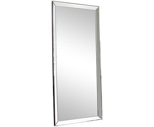 Anlehnspiegel Luna, Rahmen: Kunststoff, Spiegelfläche: Spiegelglas, Silberfarben, 76 x 178 cm