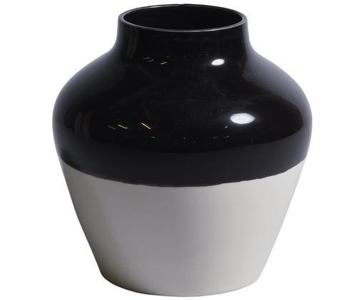 Vaso dipinto a mano Madalin, Terracotta, Nero, bianco, Ø 19 x A 19 cm