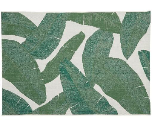 In- & Outdoorteppich Jungle, Flor: Polypropylen, Cremeweiß, Grün, B 120 x L 170 cm (Größe S)