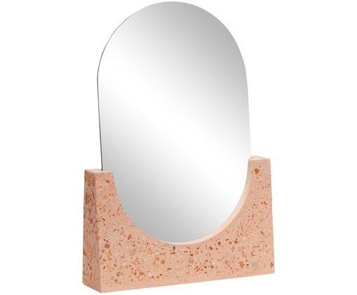 Miroir de salle de bain Gile, Miroir: verre miroir Pied: couleur corail avec éléments multicolores